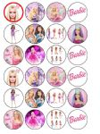 24 x Barbie Edible Rice Wafer Paper Bun Cup Cake Top Toppers